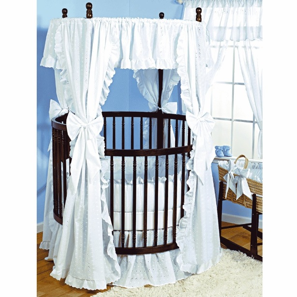 Baby Doll Bedding Carnation Eyelet Round Crib
