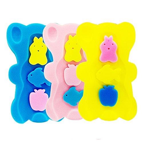 HALLO Soft Infant Bath Sponge Skid Proof best Baby Bath Mat