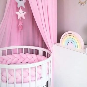 LOAOL round Baby Cribs Bumper