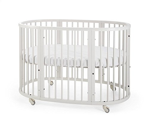 Stokke Sleepi White Adjustable round Baby Crib