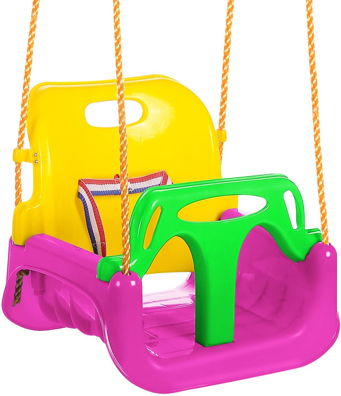 ANCHEER 3 in 1 Toddler Best Outdoor Swing Seat Infants to Teens