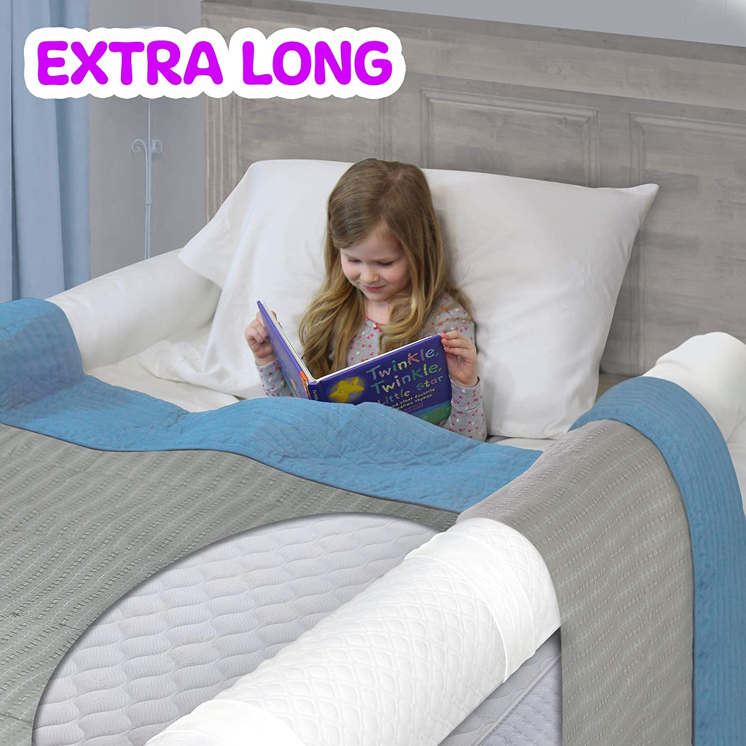 BuBumper Extra Long Best Bed Rail for Toddler