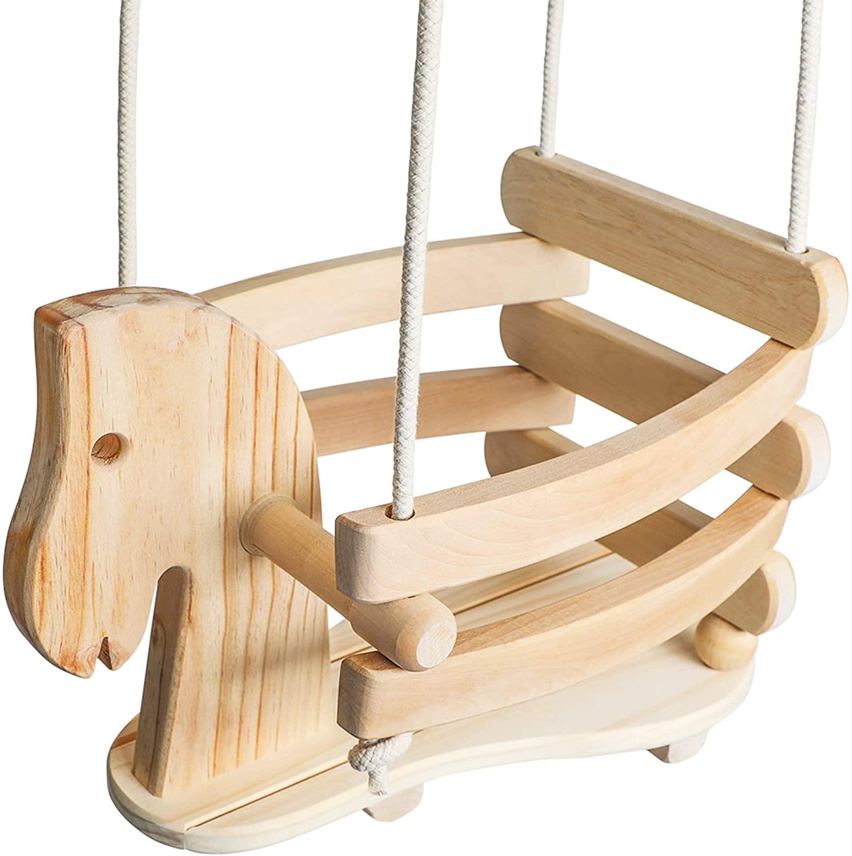 Wooden Horse Toddler Best Baby Swing Outdoor & Indoor