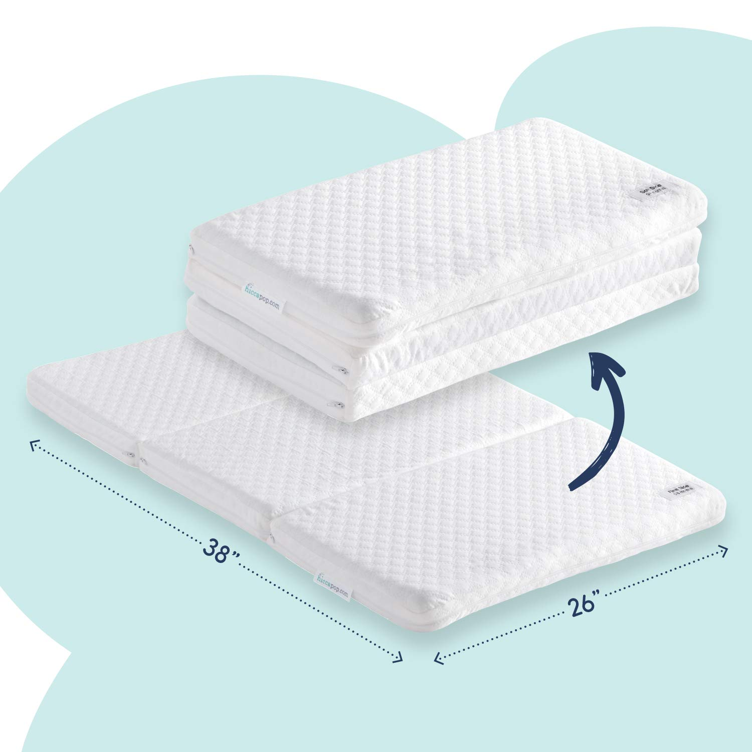 hiccapop Tri fold Best Pack n Play Mattress