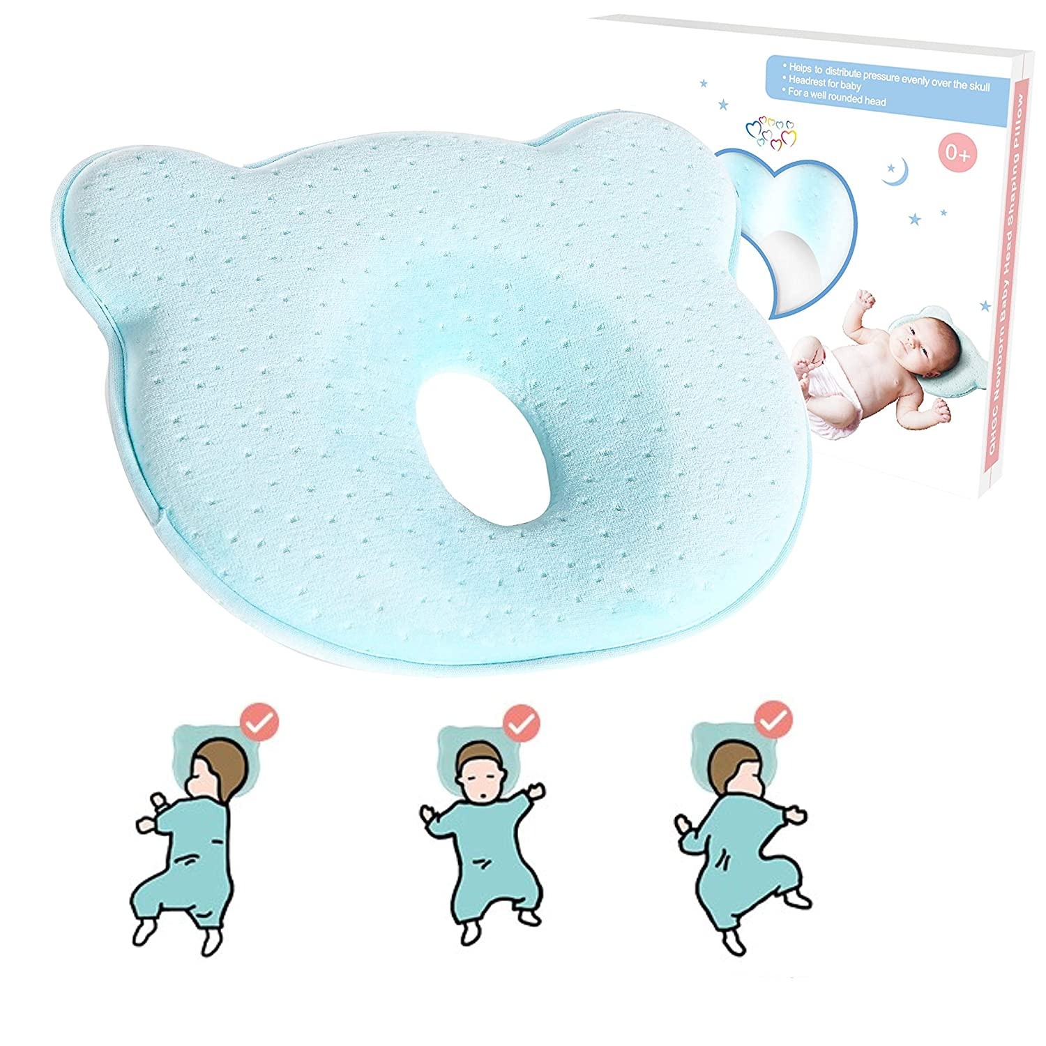 AtoBaby Best Baby Pillow for Flat Head Syndrome Prevention