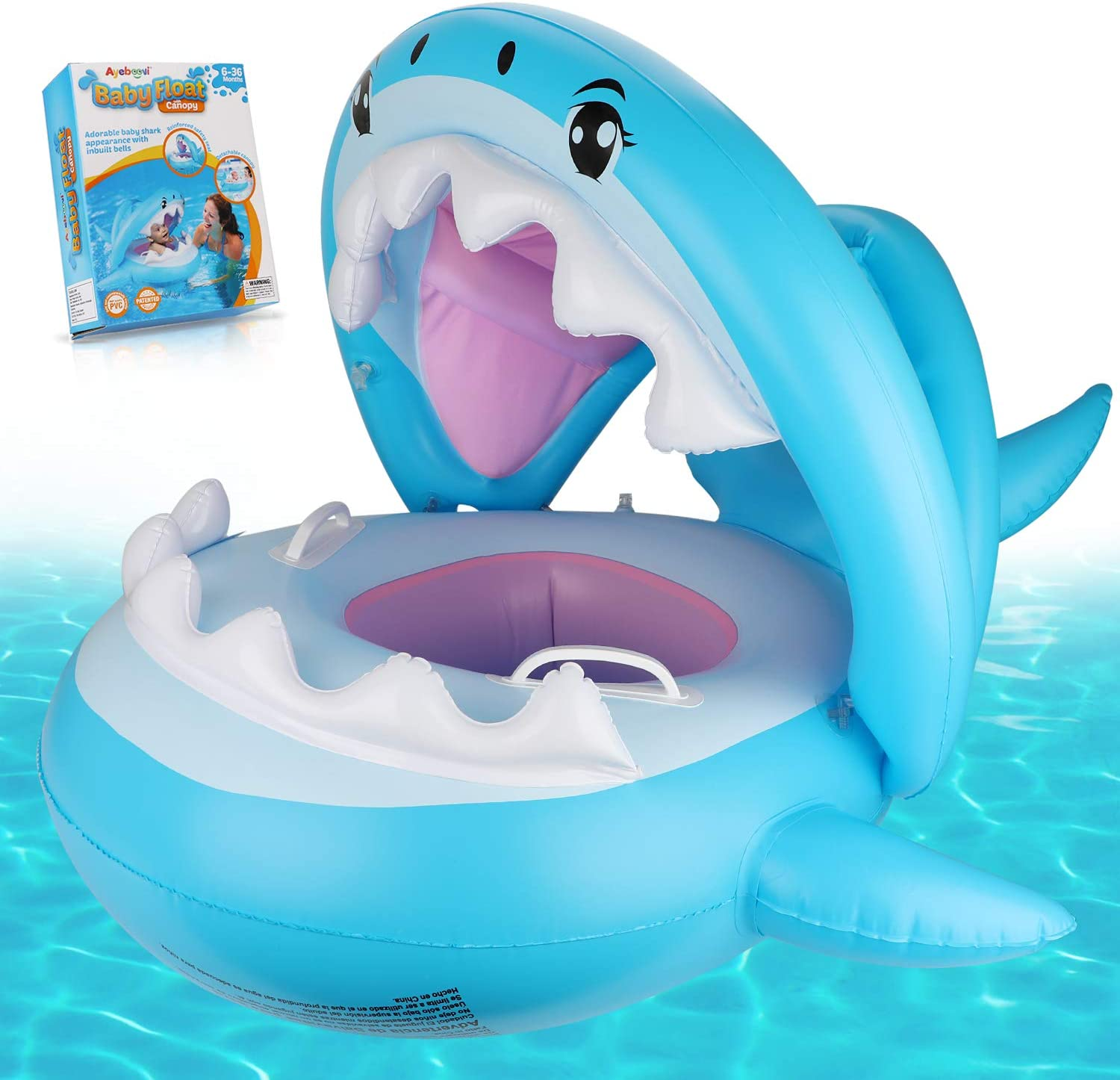 Ayeboovi Best Baby Pool Float with Canopy