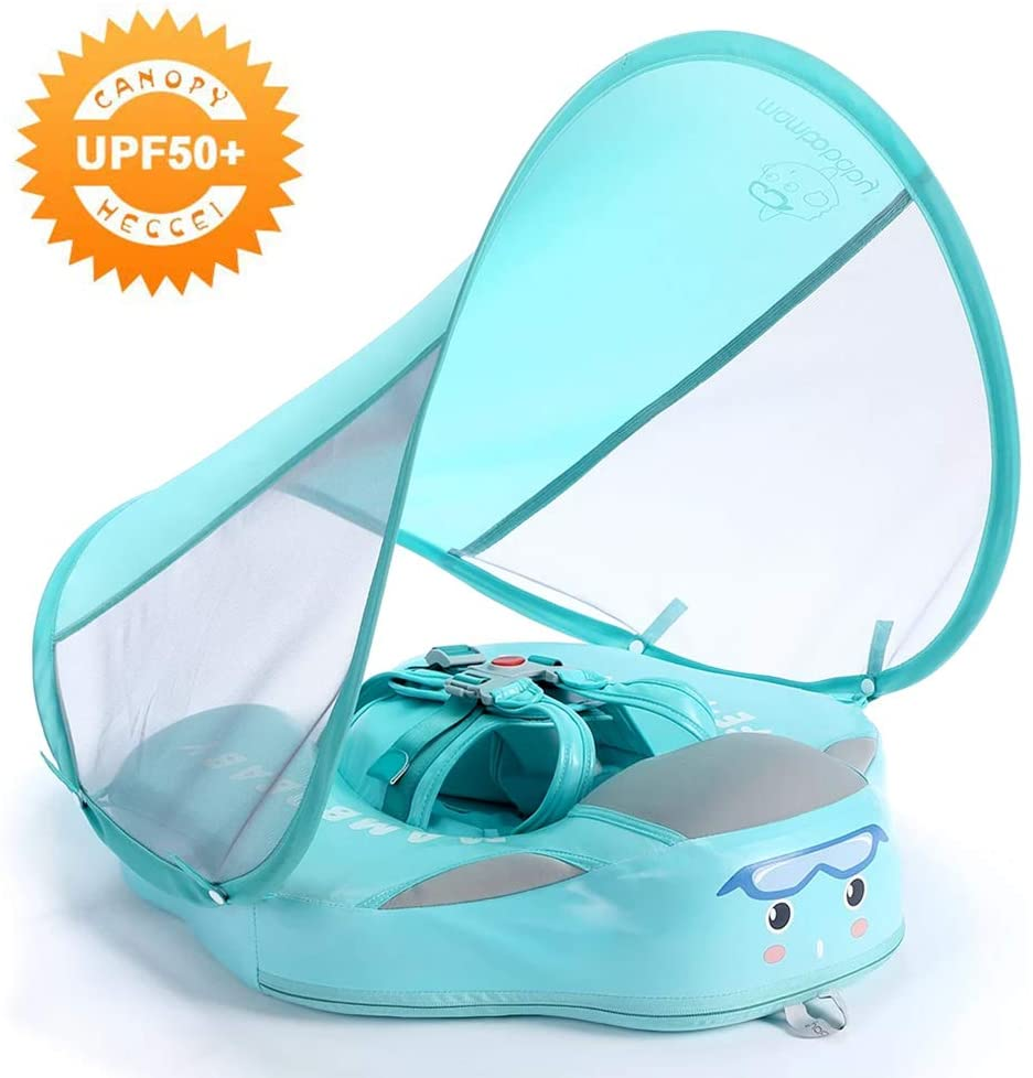 HECCEI Best Baby Swim Float with Canopy