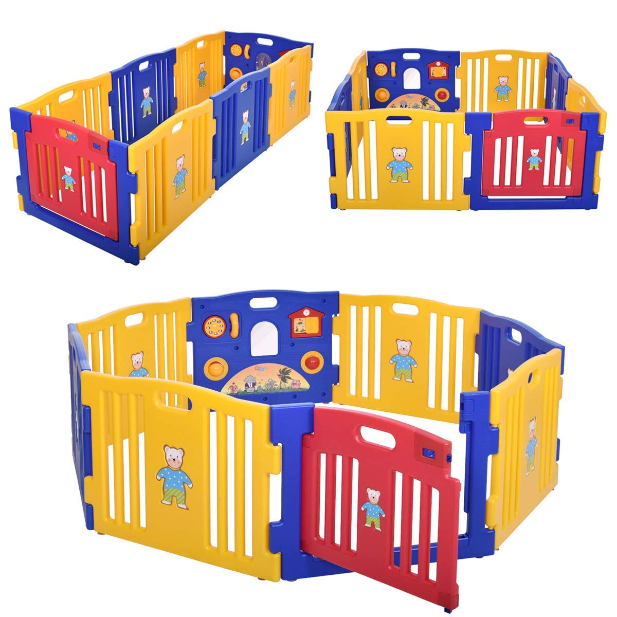 JAXPETY Baby Playpen Kids Best Safety Play Center Yard