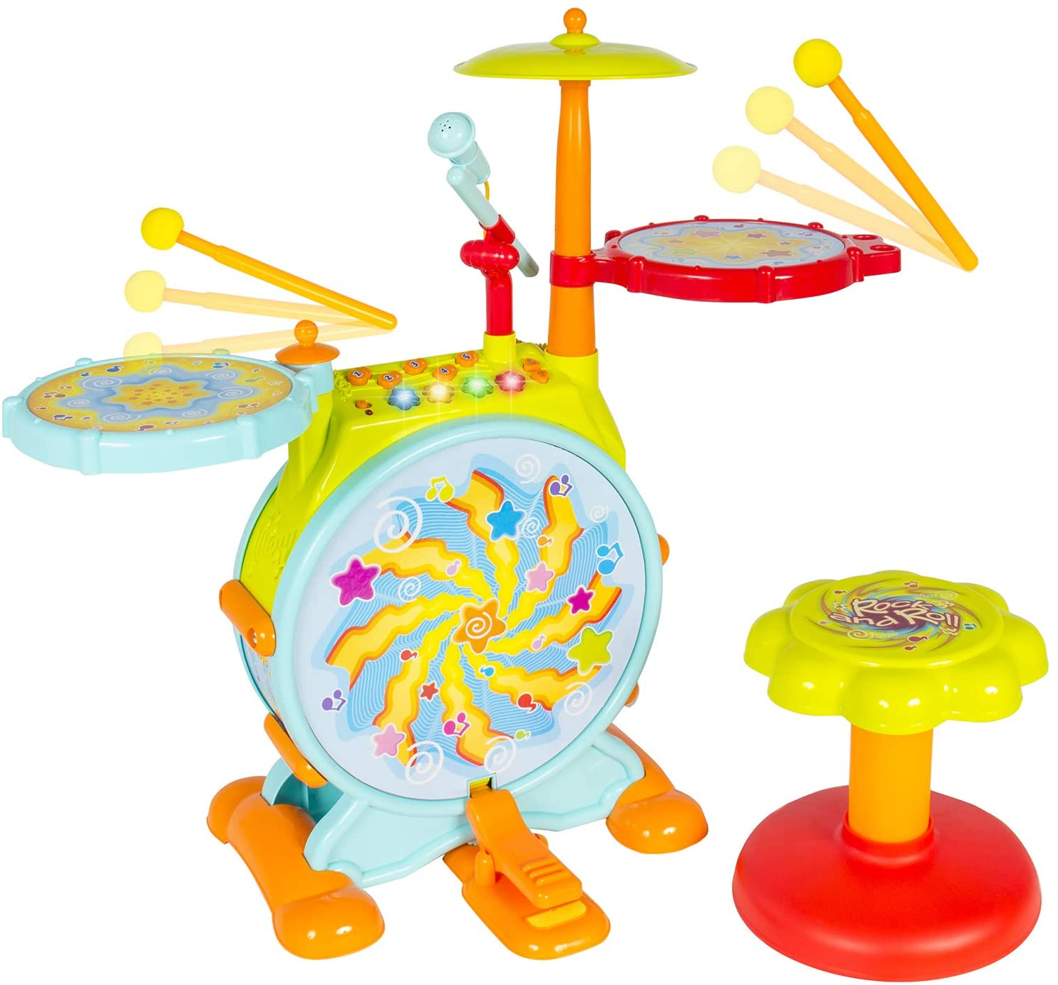 Best Choice Products Kids Electronic Toy Best Drum Set