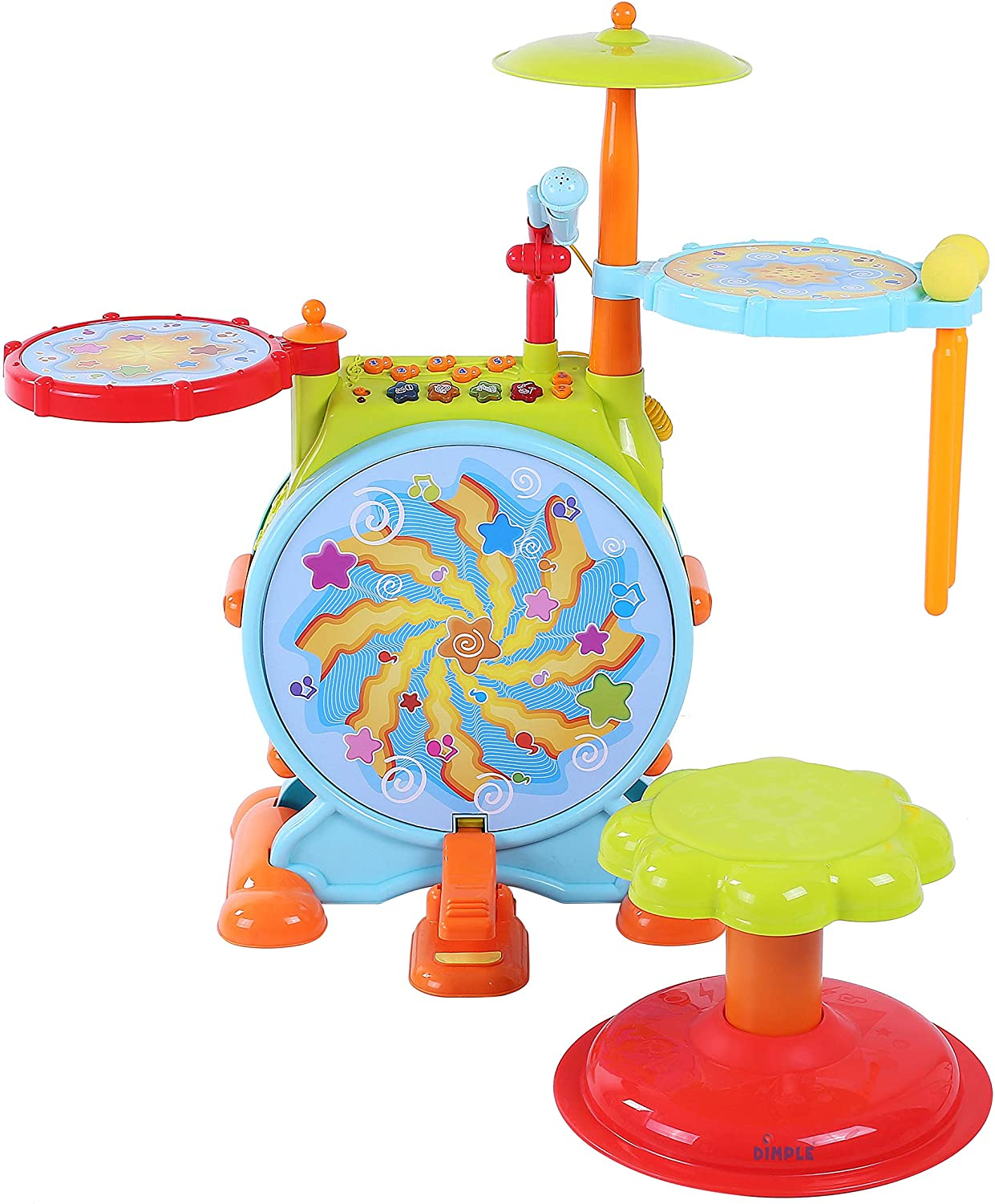 Dimple Electric Best Toddler Drum Set for Kids