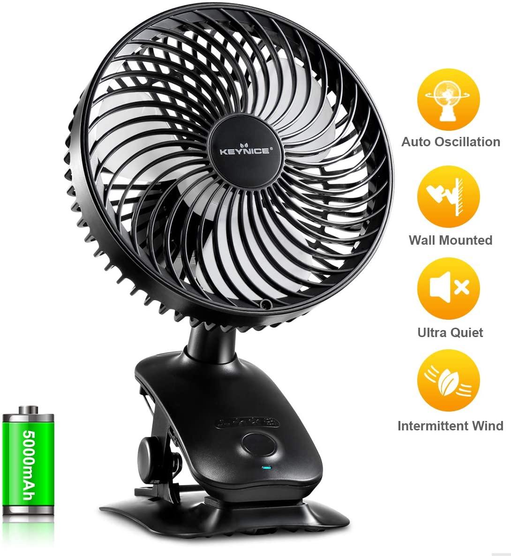 KEYNICE Clip on Best Stroller Fan