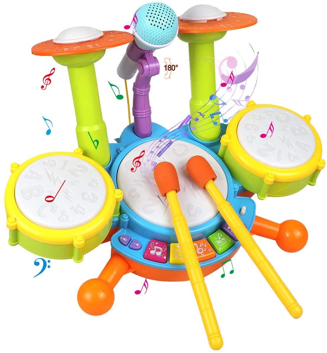 POKONBOY Kids Best toddler Drum Set