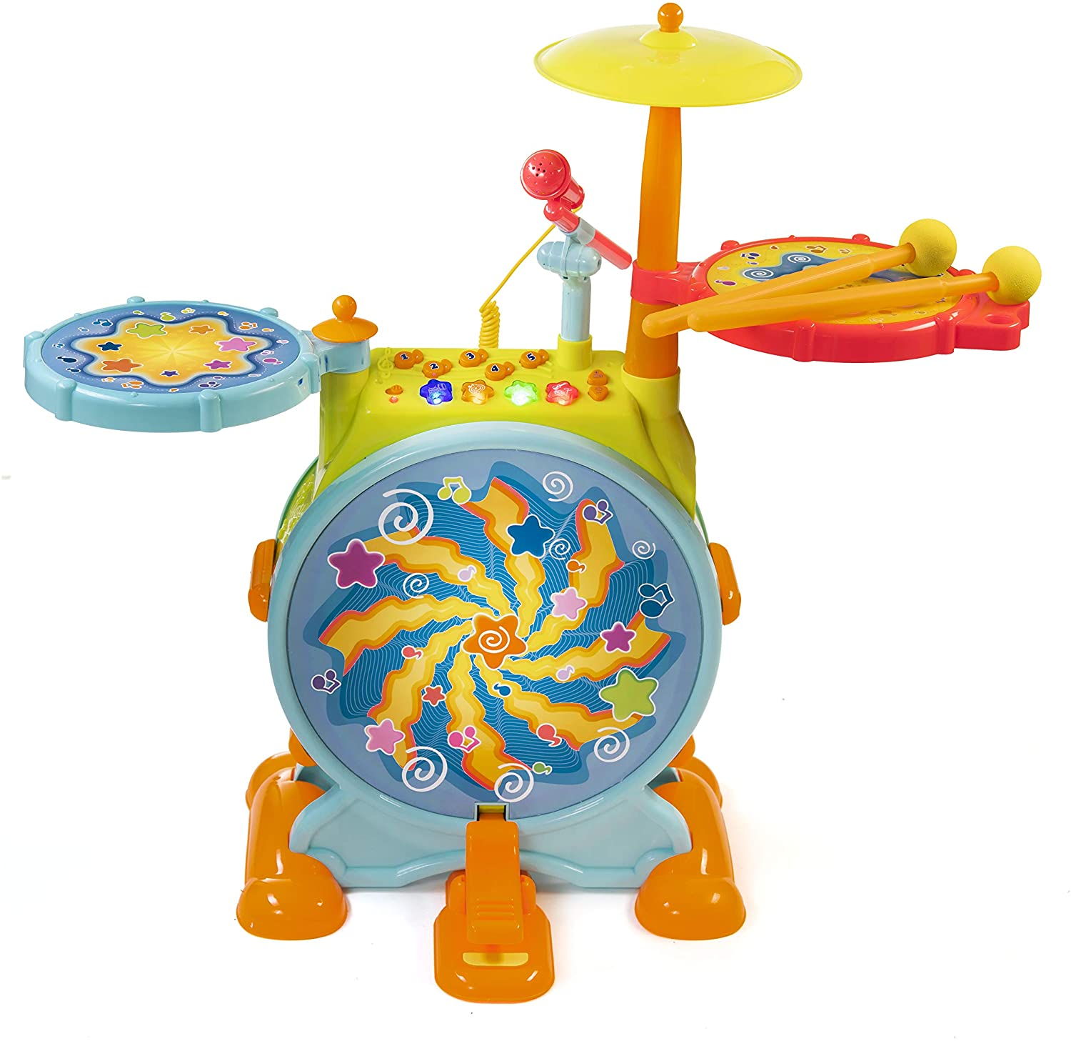 Prextex Kids Electric Toy Best Drum Set for toddlers