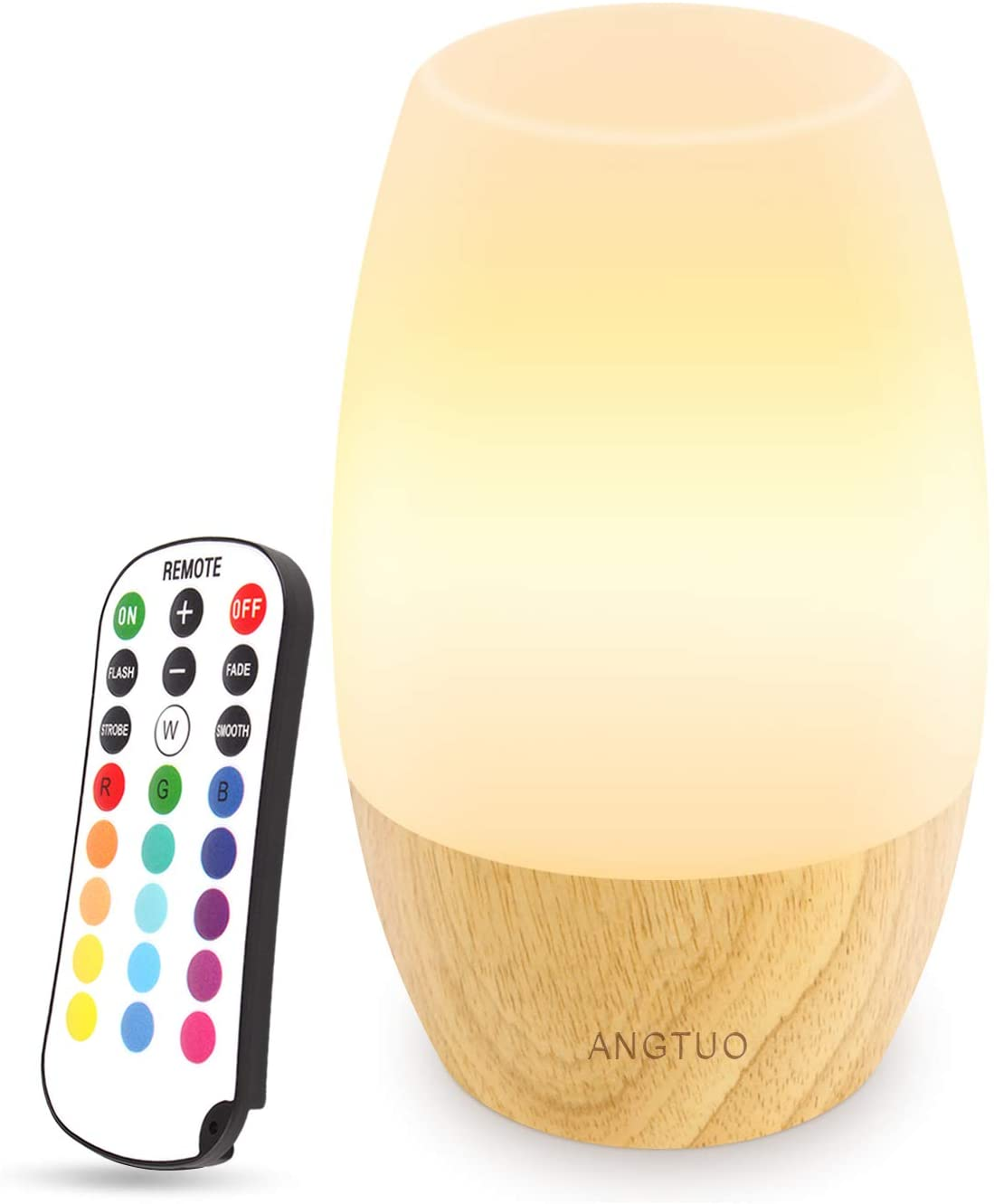 ANGTUO LED Wooden Best Nursery Night Light