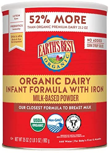 Earths Best Organic Dairy Best Infant Formula