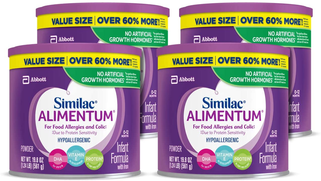 Similac Alimentum Hypoallergenic Best Infant Formula for gas