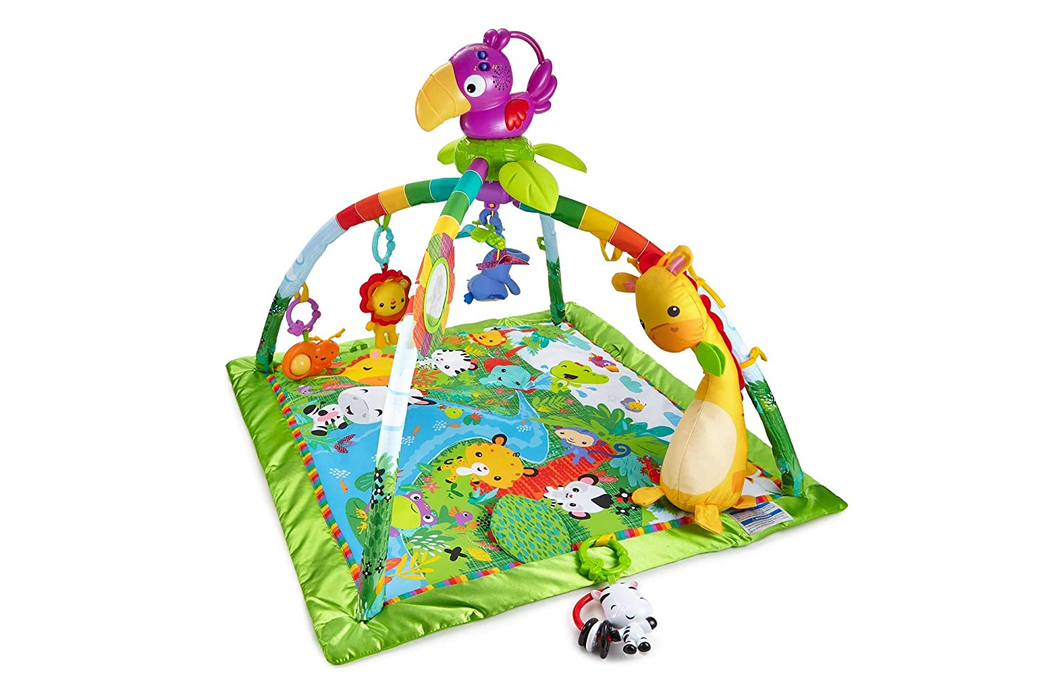 Fisher Price Rainforest Music Lights Deluxe Gym Best Baby Play Mat