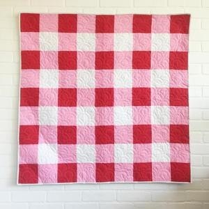 Checked type baby quilts