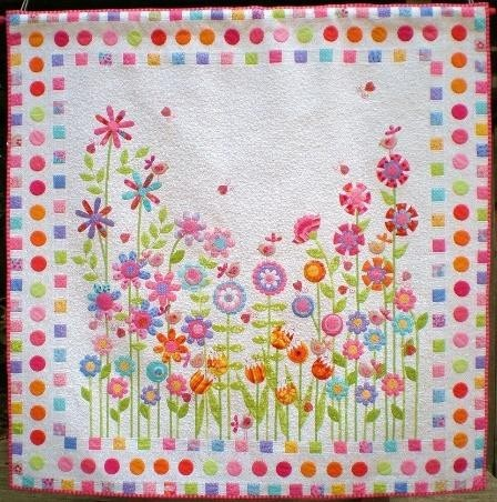 Sewing patterns of flowers baby quits