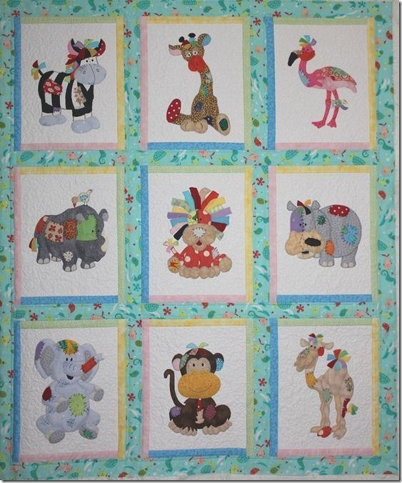 Storytelling pictures patterns Baby Quilt