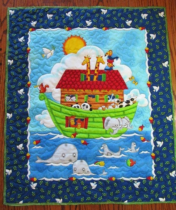 Storytelling pictures style Baby Quilt