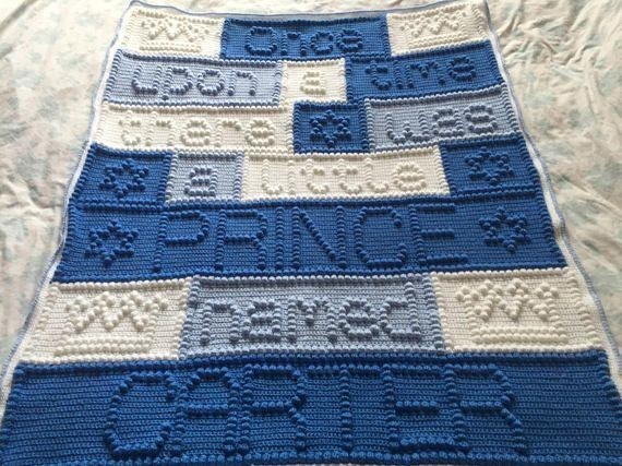 loving message pattern Baby Quilt