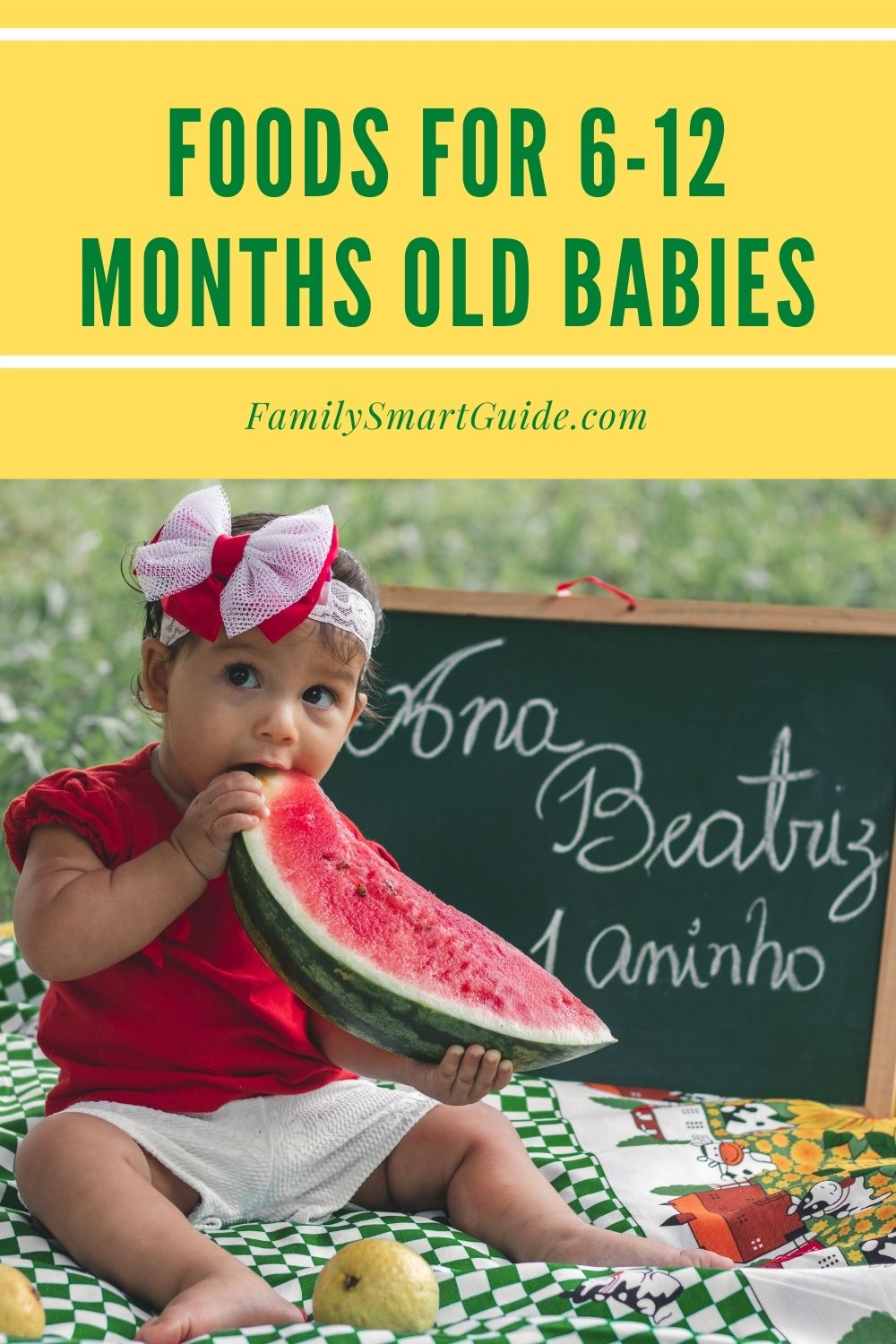 Foods For 6 to 12 Months Old Babies pinterest