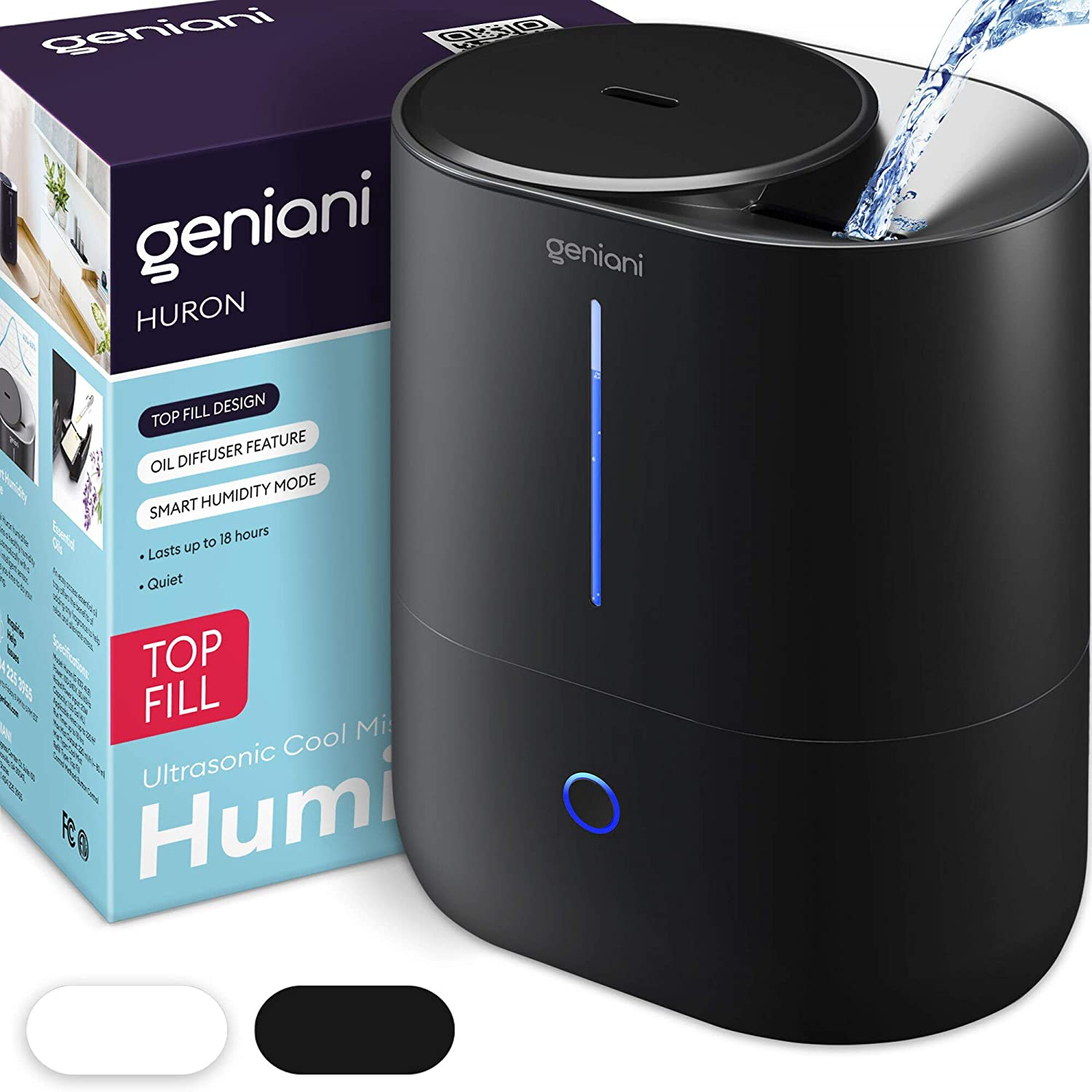 GENIANI Top Fill Cool Mist Best Baby Humidifier